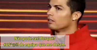 Cristiano Ronaldo furioso por perder competição amigável