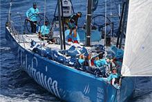 Volvo 70 Telefonica sailing off Brazil- skipper Iker Martinez