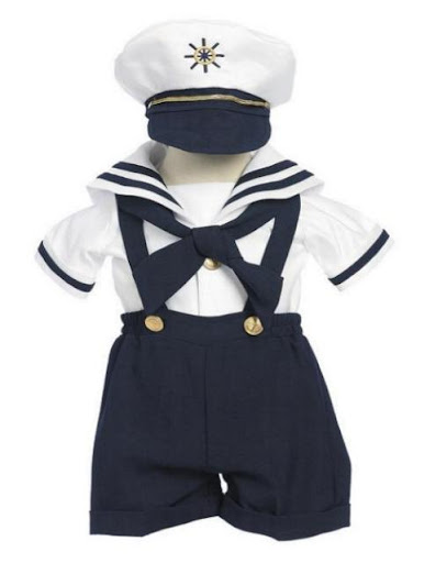 Angels Baby Boy Tuxedo Navy Sailor captain suit/Christening Baptism dress/S/M/L/XL/3-6M/6-12M/12-18M/18-24M/SMALL/MEDIUM/LARGE/X LARGE/ at Sears.com