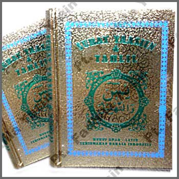 Buku Yasin Sampul Gold