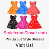Visit STYLE ICON'S CLOSET for vintage instpired 50s dresses…