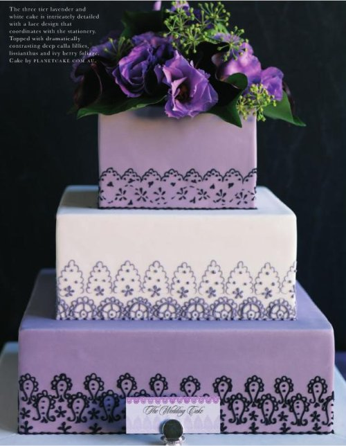 wedding cakes pictures square purple wedding cakes. Black Bedroom Furniture Sets. Home Design Ideas