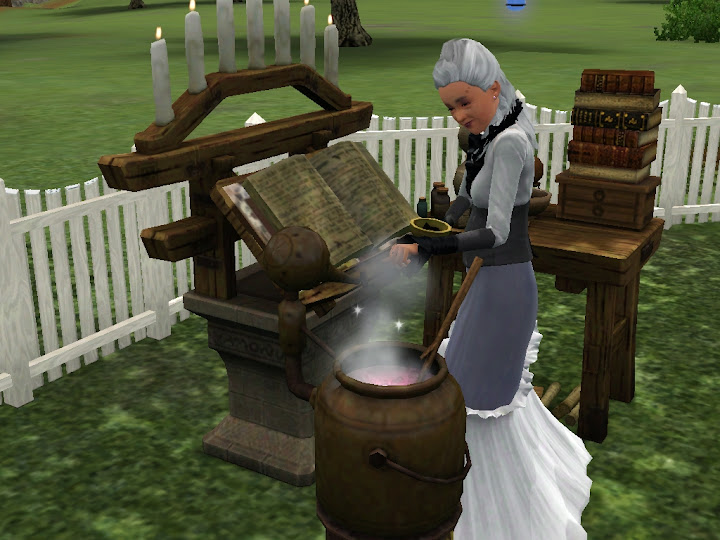 Bruja preparando elixir