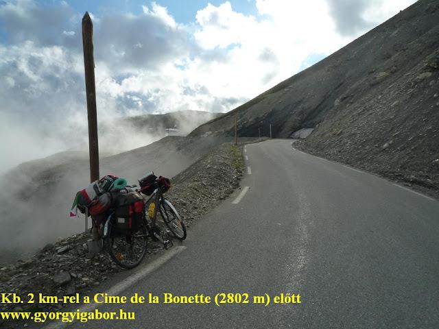 Györgyi Gábor & Francia Alpok kerékpártúra, Cime de la Bonette