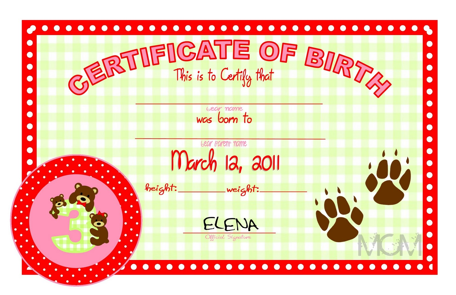 Build a bear birth certificate template image collections online ordination certificate template xflitez Choice Image