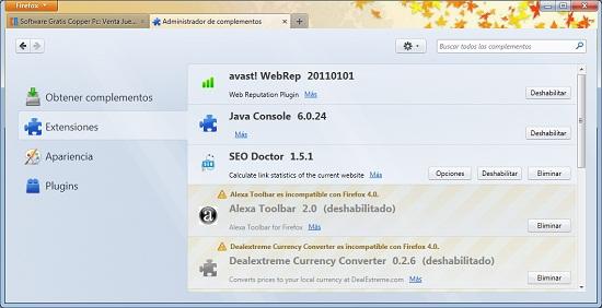 Firefox 4 complementos