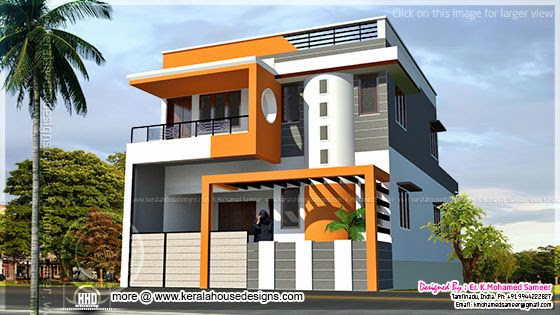 Modern house design in tamilnadu style kerala home for Tamilnadu house models