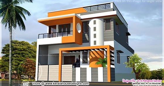 Modern house design in tamilnadu style kerala home for Home models in tamilnadu pictures