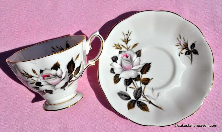 Vintage Queen's Messenger Bone China Teacup and Saucer