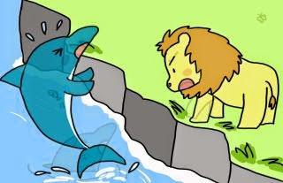 El león y el delfín