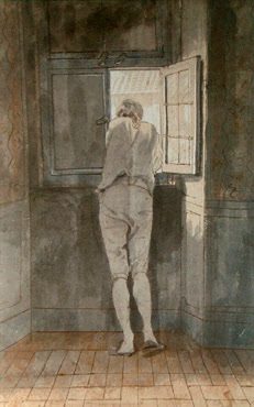 Goethe am Fenster der römischen Wohnung am Corso - J. Tischbein