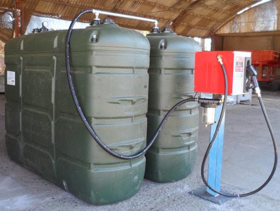 Kit estanques estacionarios petroleo diesel 1000 lts for Polietileno para estanques