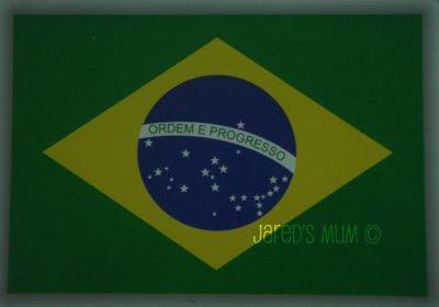 postcards, official Postcrossing.com, Brazil, flag cards