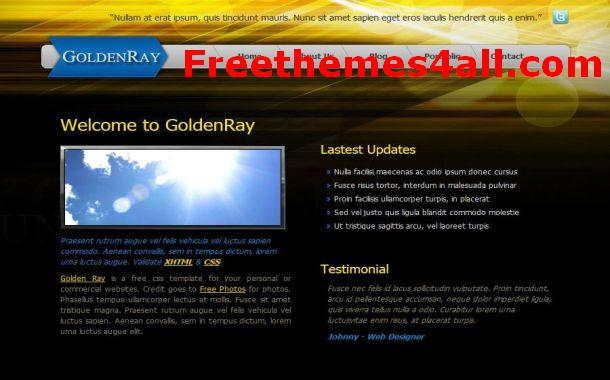 Free Jquery Yellow Black CSS Website Template