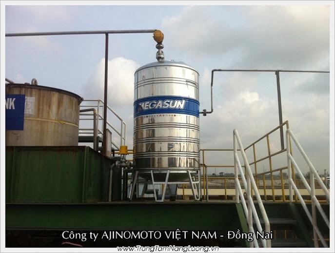 Dự án máy nước nóng năng lượng mặt trời tại Ajinomoto Việt Nam - Đồng Nai