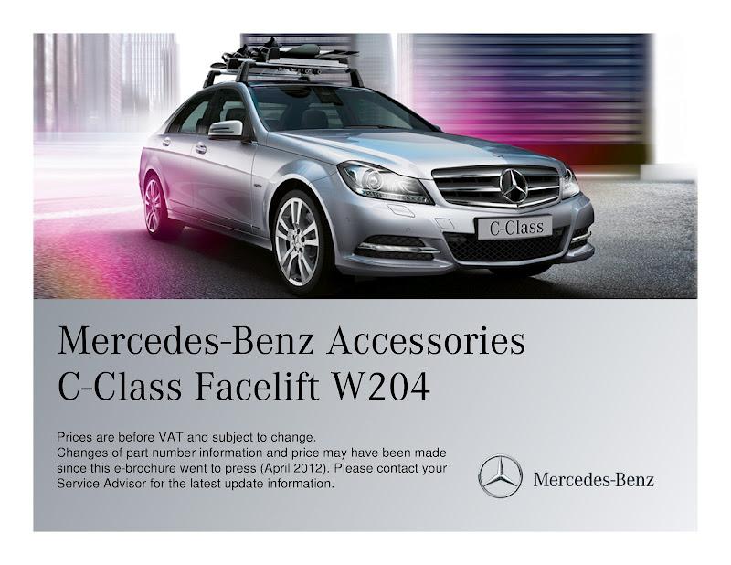Accessories cho xe c class facelift w204 mercedes benz for Accessories for mercedes benz c class