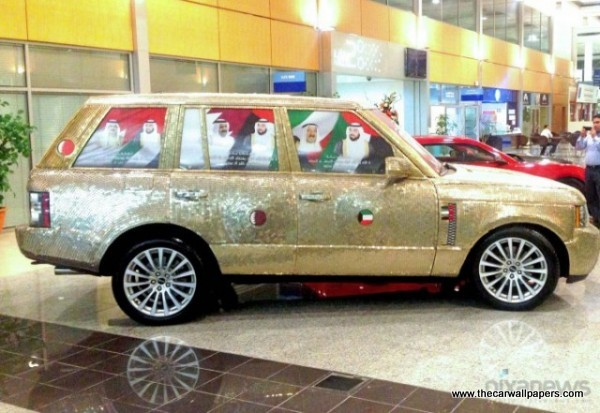 Land Rover Covered with Coins in Dubai