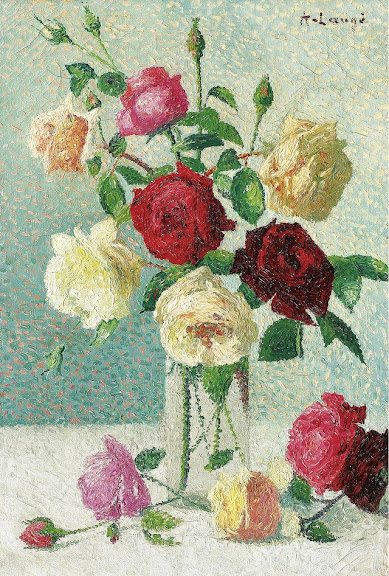 Achille Laugé - Vase of Roses