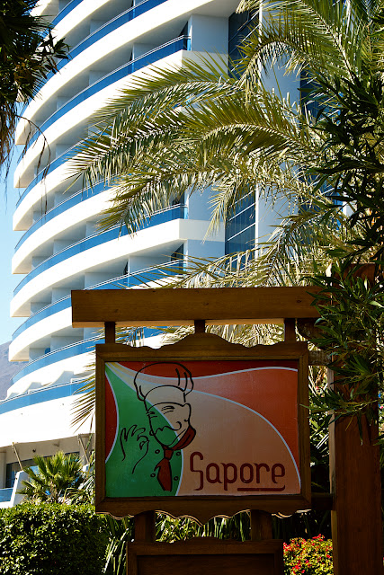 Sapore restaurant at Le Meridien Al Aqah Resort