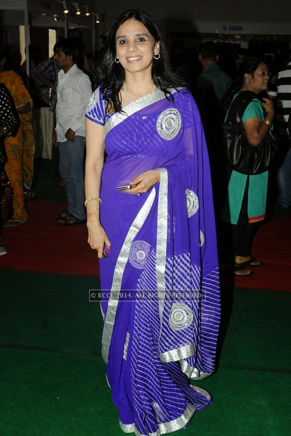 Anitha Soni during a lifestyle exhibition, held in the city.