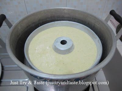 Resep Cake Kukus Tape Ketan Hijau JTT