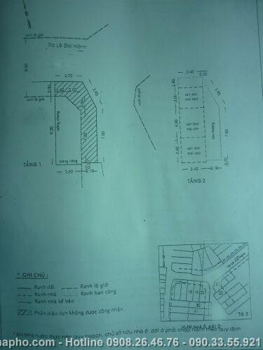 Bán nhà Lê Đại Hành , Quận 11 giá 2, 3 tỷ - NT118