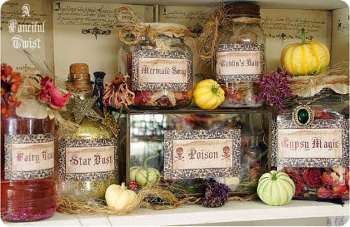 Potions And Spells Apothecary Jar Labels Magical Makings Set Of 6 By Afancifultwist