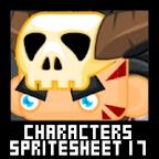 RPG Paladin Barbarian Character Spritesheet