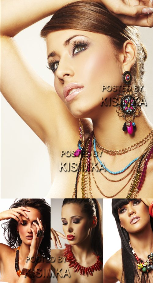 Stock Photo: Fashion woman with jewelry