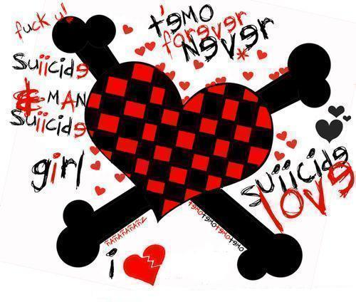 Corazón EMO para Facebook
