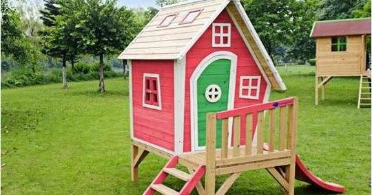 Casas de madera prefabricadas casita de nina de madera - Casa munecas eurekakids ...