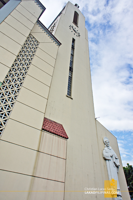 The Towering Belfy at Sto. Domingo Church in Quezon City