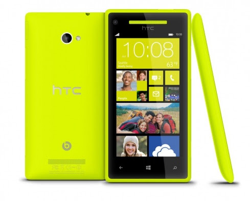 Colours of Windows Phone 8X available in Yellow