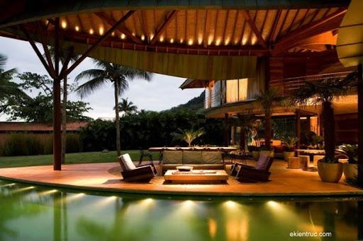 Leaf House 11 1 750x500 Kiến trúc nhà lá thú vị tại Brazil