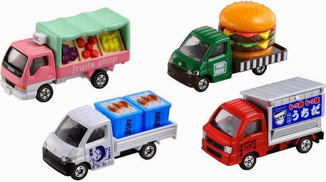 Bộ Tomica Food Shop Car Set thật sinh động và đẹp mắt