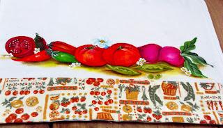 pintura tomates pimentas e rabanetes
