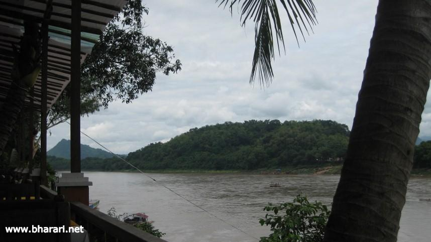 An evening by the great Mekong River in Luang Prabang