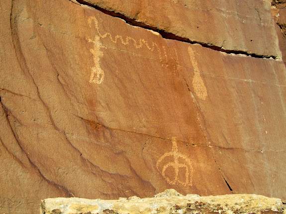 High-up petroglyphs