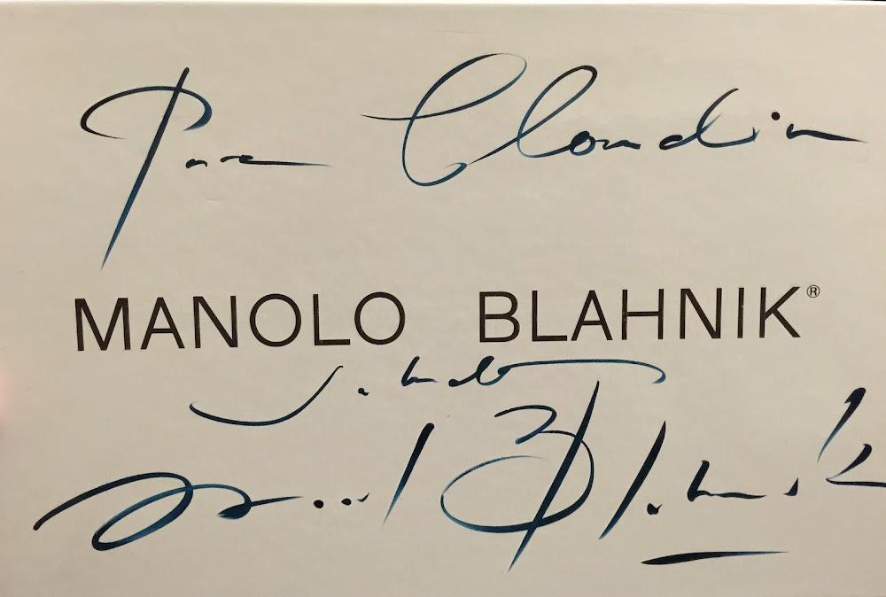 Manolo Blahnik signarture
