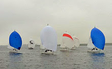 J/80s sailing off Holland in the fall