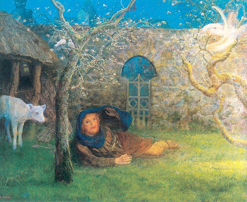 Arthur Hughes - Caedmon's Awakening