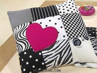 Como decorar almohadones con recortes de tela portal de - Como hacer almohadones ...