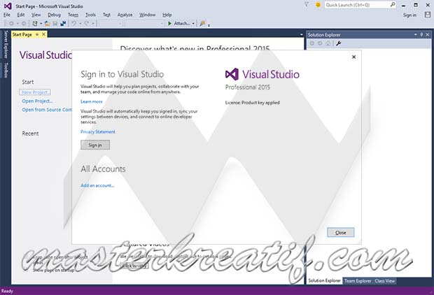 visual studio 2015 serial key