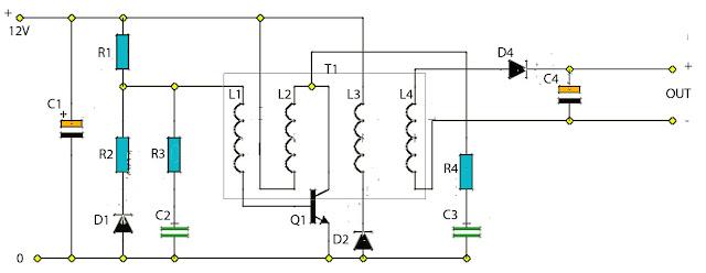 portable battery charger acircuit diagram