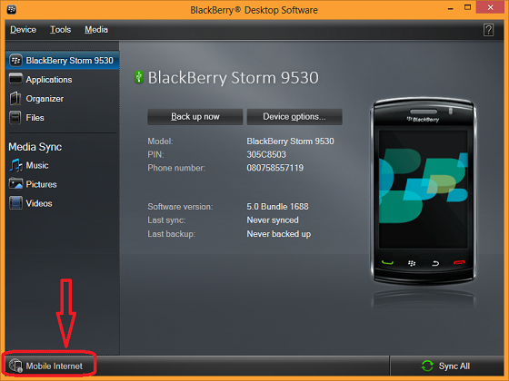 how to connect blackberry to pc for internet
