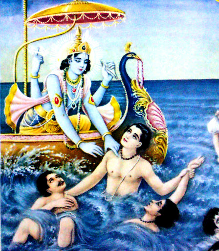 Lord VishNu saving fallen souls