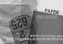 200+ Paper Brushes for Photoshop
