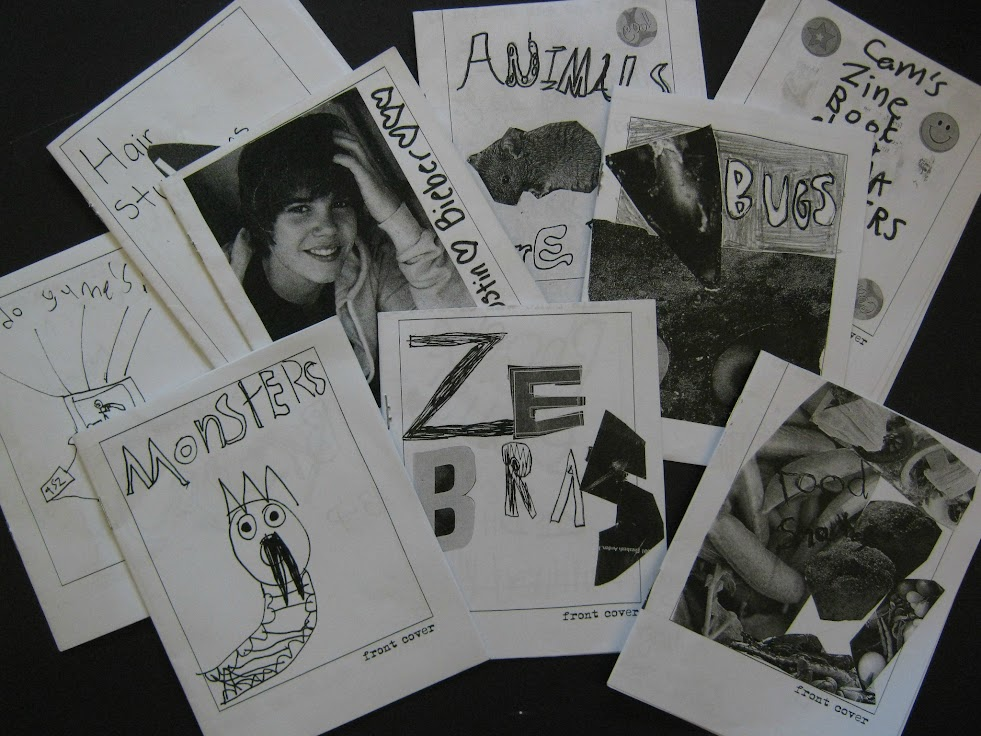 A collection of 'zines created by elementary school students.