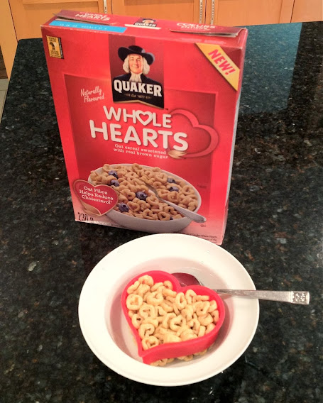 Heart-shaped Quaker Whole Hearts – submitted by self-proclaimed cereal fanatic Darren Lund