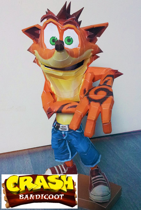 Crash Bandicoot Paper Model